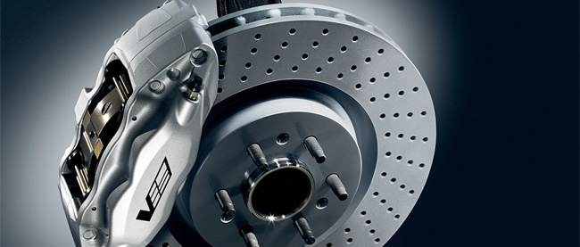 close up of a brake disk
