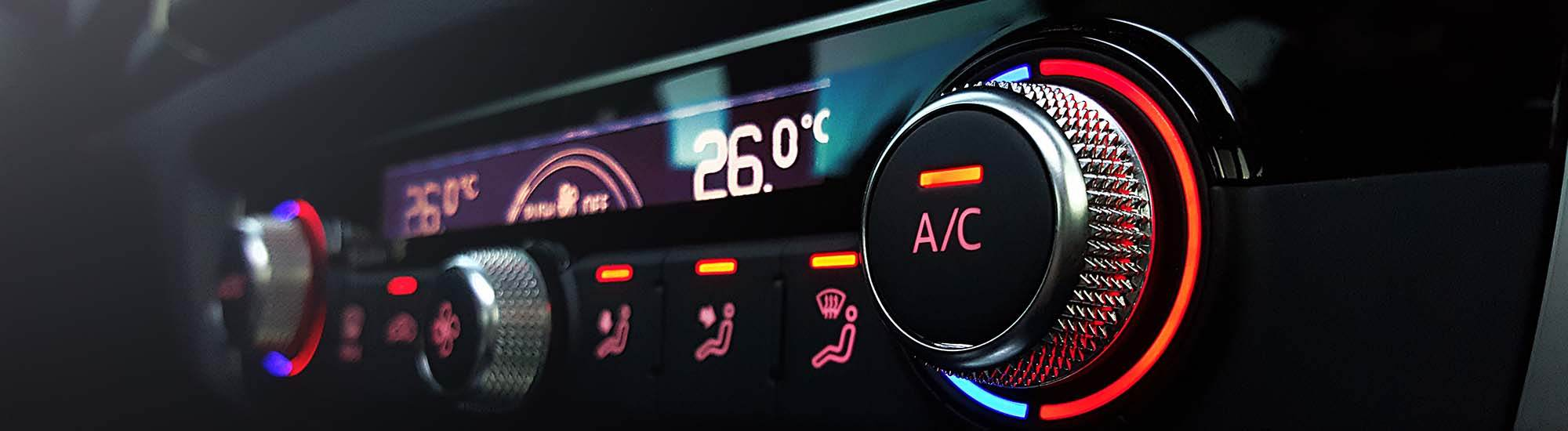 air conditioning unit in a car